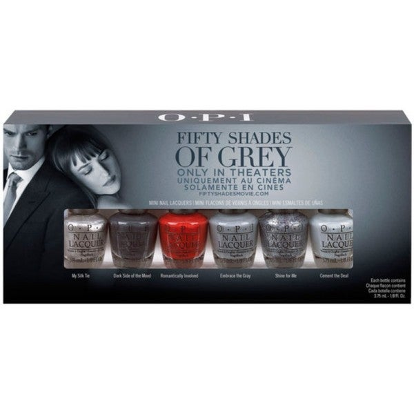 OPI Fifty Shades of Gray 6-piece Mini Nail Laquers Set