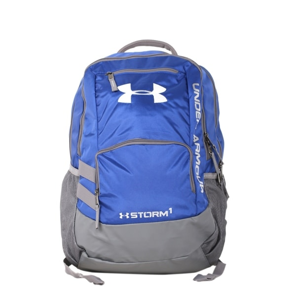 119b7527e2 Shop Under Armour Royal Carbon Hustle II Backpack - Ships To Canada ...
