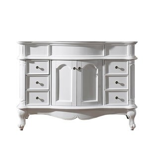 Virtu USA Norhaven 48-inch Single Sink Solid Wood Cabinet Only White