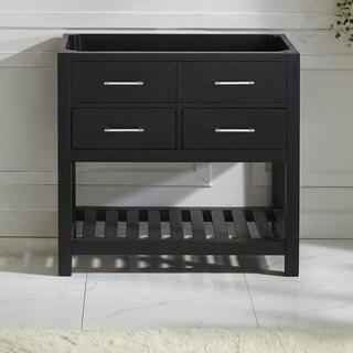 Caroline Estate 36-in Single Sink Solid Wood Cabinet Only