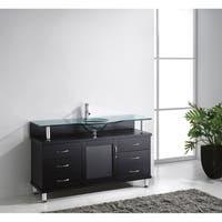 Virtu USA Vincente 55-inch Single Bathroom Vanity Set with Top Options