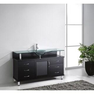 Virtu USA Vincente 55-inch Single Bathroom Vanity Set with Top Options