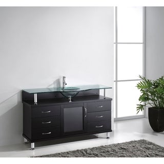 Exceptional Virtu USA Vincente 55 Inch Single Bathroom Vanity Set With Top Options