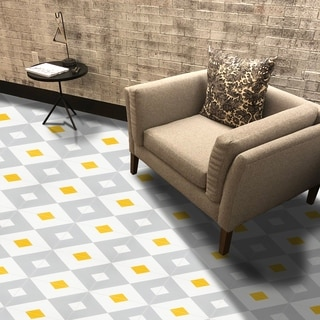 Jadida in Grey and Yellow Handmade 8x8-in Moroccan Tiles