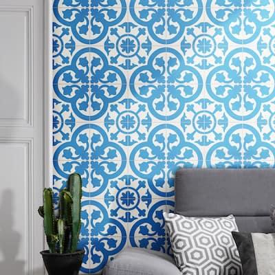 Handmade Melah in Blue and White Tile, Pack of 12 (Morocco)