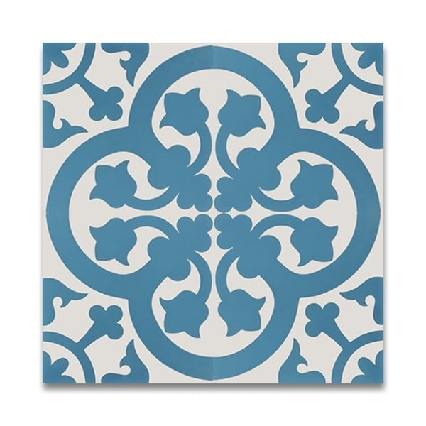 Shop Melah In Blue And White Handmade Cement Moroccan Inch X - Blue and white tiles for sale