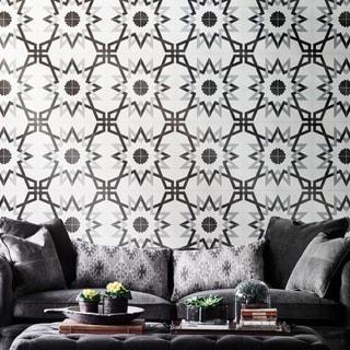 Set of 12 Merzoga Black and Gray Handmade Moroccan Floor/ Wall Tile (Morocco)