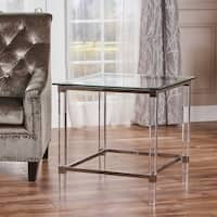 Orianna Square Glass End Table by Christopher Knight Home