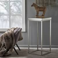 Callia Industrial Square Mirrored End Table by Christopher Knight Home
