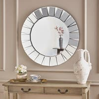 Josiah Round Wall Mirror by Christopher Knight Home - Clear