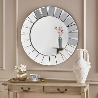josiah round wall mirror by christopher knight home