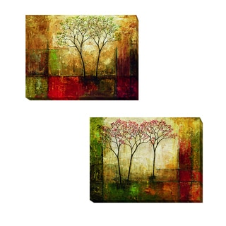 Morning Luster I and II by Mike Klung 2-piece Gallery-Wrapped Canvas Giclee Art Set