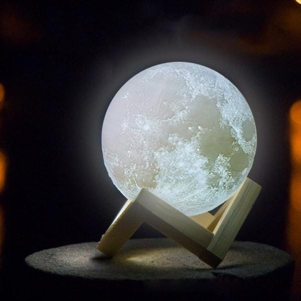 3D Print LED Moon Lamp Bright Night Light Moonlight Touch Sensor Christmas Gifts