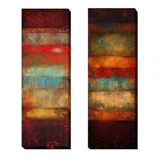 Bora and Cebu by Angelina Emet 2-piece Gallery-Wrapped Canvas Giclee Art Set