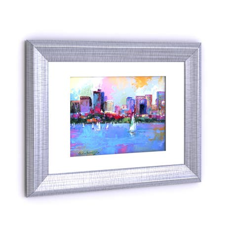 Copper Grove Richard Wallich 'Boston 3' White Matte Silver Frame Wall Art