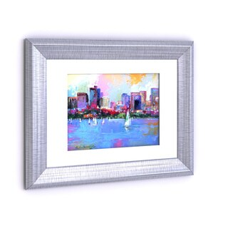 Porch & Den Richard Wallich 'Boston 3' White Matte Silver Frame Wall Art - White Matte/Silver Frame