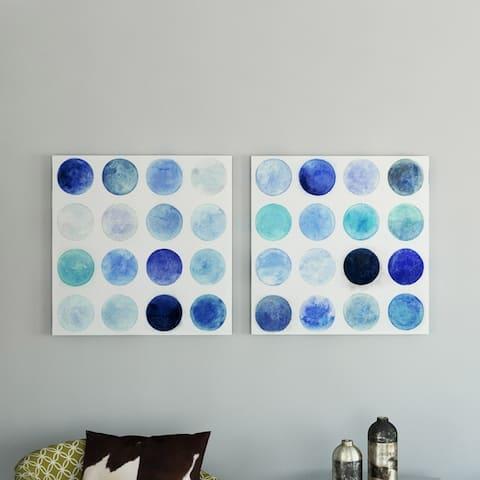 Porch & Den Blue Moons I/ II' by Norman Wyatt Jr. Canvas Art Set