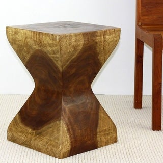 Rest Stool 14 in SQ x 20 in H Antique Oak Oil