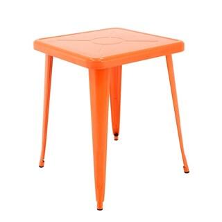 Porthos Home Indoor&Outdoor Rust-Resistant Metal Restaurant Table (Option: Orange)
