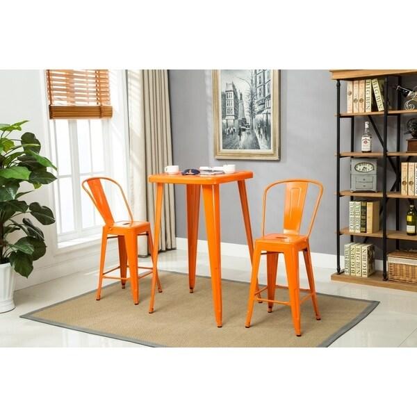 Porthos Home Indoor&Outdoor Rust-Resistant Metal Counterstool-Set of 4