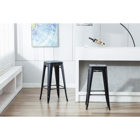 Carbon Loft Athos Metal All-weather Rust-resistant Bar Stool (Set of 4)
