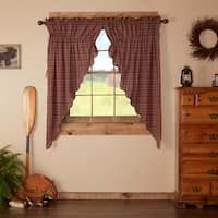 "Parker Scalloped Lined Prairie Curtain Set - 63"" x 36"""