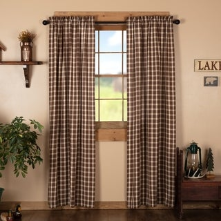 Shop Brown Rustic Curtains Vhc Rory Panel Pair Rod Pocket