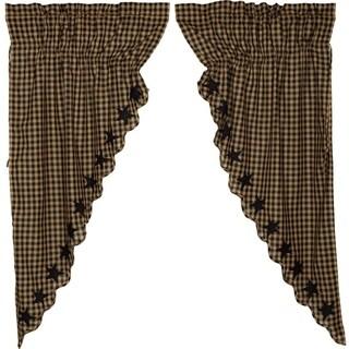 """Star Scalloped Prairie Curtain Set - 63"""" x 36"""""""