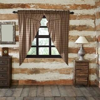 "Wyatt Lined Prairie Curtain Set - 63"" x 36"""