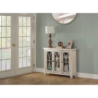 Hillsdale Furniture Bayside Three Door Cabinet ,Antique White