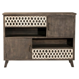 Hillsdale Furniture Artesa Two Door / Two Drawer Cabinet , Brown Gray