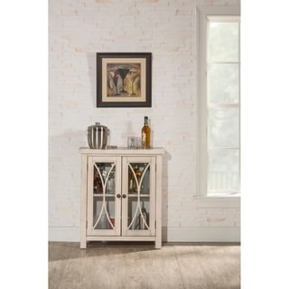 Hillsdale Furniture Bayside White Wood 2-Door Cabinet