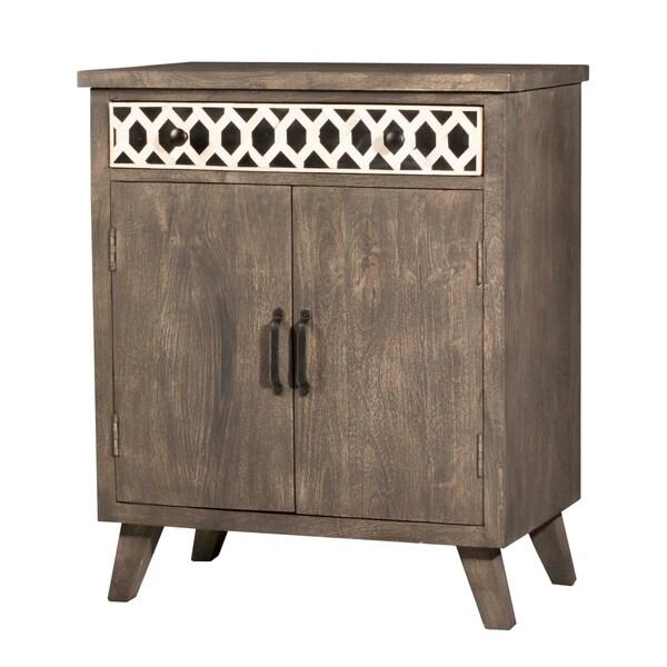 Hillsdale Furniture Artesa Two Door Cabinet, Brown Gray