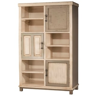 Hillsdale Furniture LaRose White and Grey Wood Tall Hand-painted Accent Cabinet