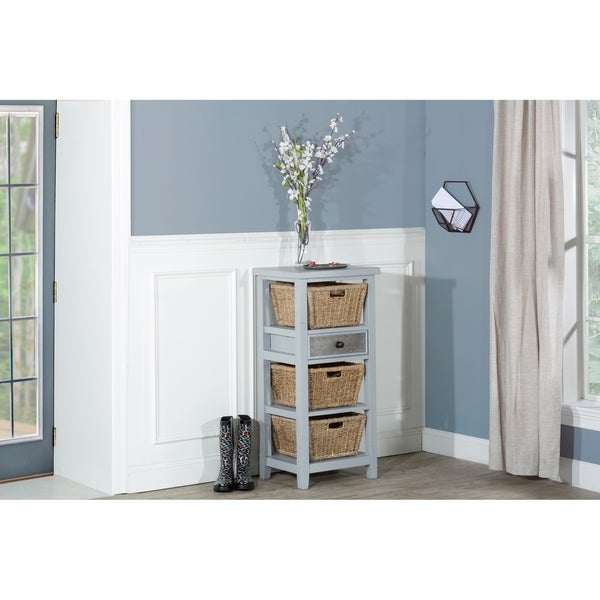 Hillsdale Furniture Tuscan Retreat Basket Stand with Baskets, Blue