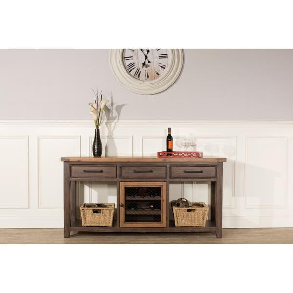 Hilale Furniture Tuscan Retreat Sofa Table With Wine
