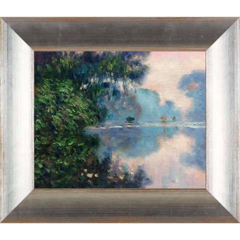 Claude Monet 'Morning on the Seine Near Giverny' Hand Painted Oil Reproduction