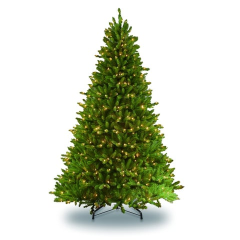 Puleo International 7 1/2 ft. Pre-lit Fraser Fir Artificial Christmas Tree 700 UL listed Warm White LED Lights