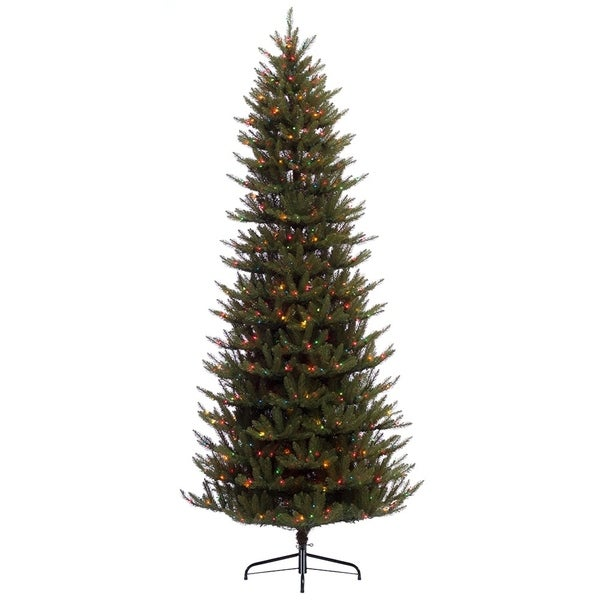 Pre Lit Led Lights Christmas Tree: Shop Puleo International 7.5 Ft. Pre-lit Slim Fraser Fir
