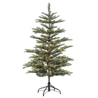 Puleo International 4 1/2 ft. Pre-lit Aspen Green Fir Artificial Christmas Tree 250 UL listed Clear Lights