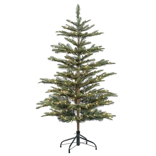 Shop Puleo International 4 1/2 ft. Pre-lit Aspen Green Fir ...