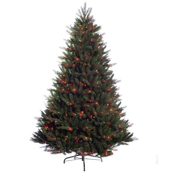 puleo international 7 12 ft pre lit douglas fir premier artificial christmas