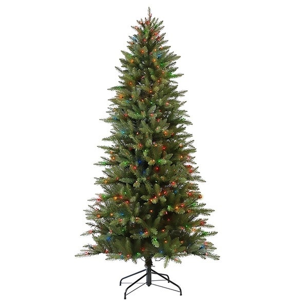 shop puleo international 7 1 2 ft pre lit fraser fir pencil artificial christmas tree 350 ul. Black Bedroom Furniture Sets. Home Design Ideas