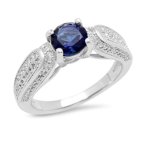 Piatella Ladies Brass Cubic Zirconia Engagement Ring in 3 Colors