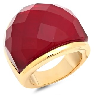 Piatella Ladies Gold Tone Crystal Cocktail Ring in 3 Colors