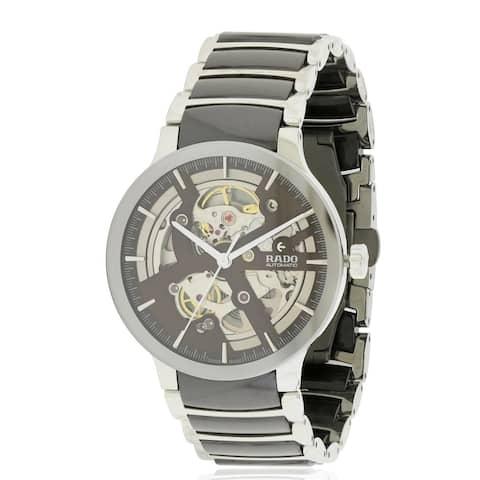 cb6e5b4bf24 Rado Centrix Steel and Ceramic Automatic Mens Watch R30179302