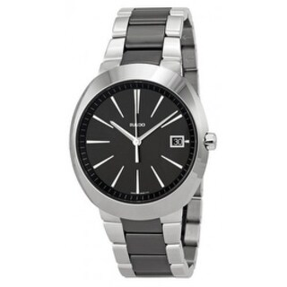 533e4b6c398e Shop Rado D-Star XL Stainless Steel Black Ceramic Mens Watch R15943162 - Free  Shipping Today - Overstock - 17847271