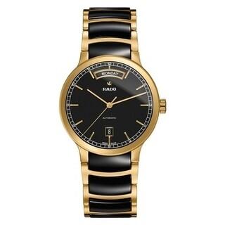 Rado Centrix Gold-Tone And Ceramic Automatic Mens Watch R30157162