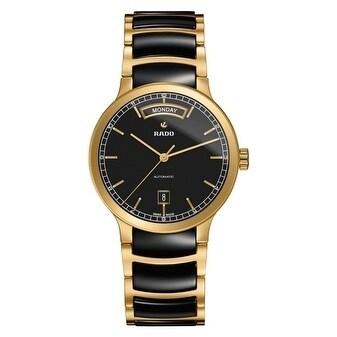 b6544c3007a8 Shop Rado Centrix Gold-Tone And Ceramic Automatic Mens Watch - Free  Shipping Today - Overstock.com - 17847288