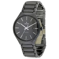 334a9fdec178 Shop Rado Centrix Stainless Steel and Black Ceramic Automatic Mens ...